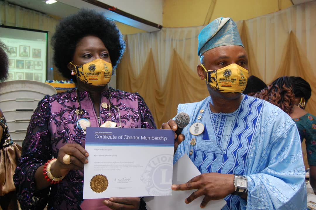 PHOTONEWS: Olori Jaiyeola Emerges First President Maryland Royal Lions Club