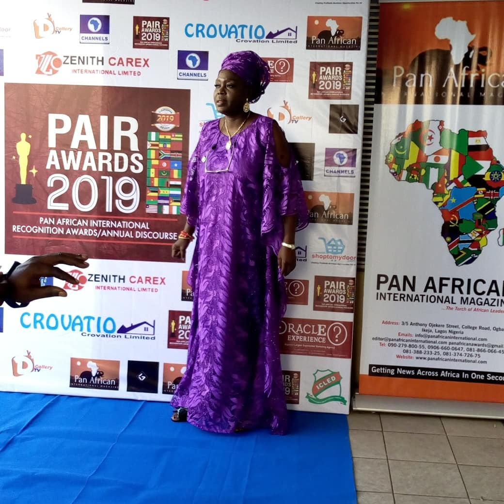 Ayo Yemisi Jaiyeola receives Pan African Award